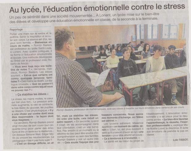 article OF Lycée - gestion des émotions